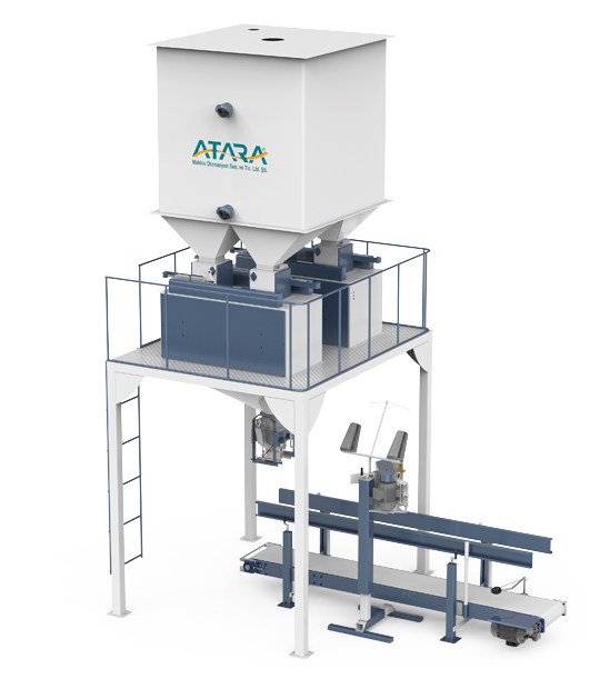 Double Weighing Single Station Pulses Packing Machine (5-10 / 10-25 Kg)1
