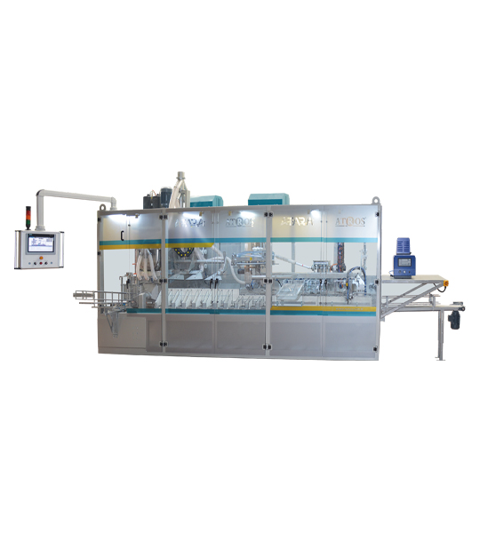 Six-Station Unloading Double-Stage Weighing Manuel Bag Place Rotational Flour Packing Line (25-50 Kg)1